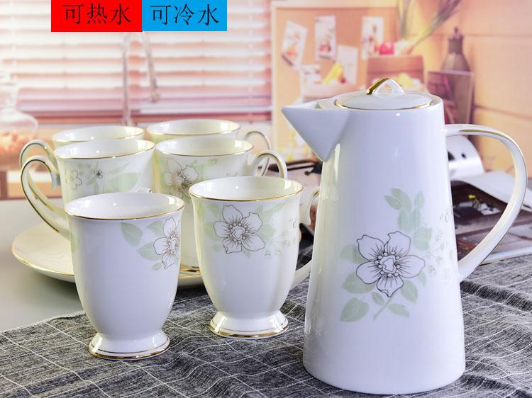 唐山骨瓷厂家销售骨质瓷水具套装 陶瓷冷水壶