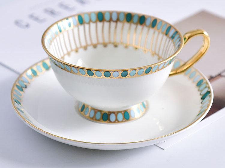 唐山骨瓷厂家批发骨瓷咖啡杯碟 金