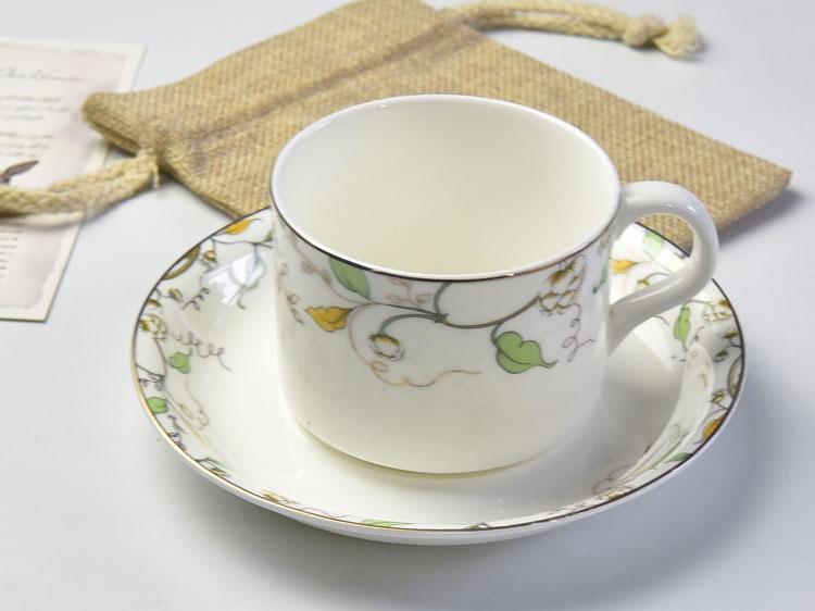 唐山骨瓷厂家批发骨瓷咖啡杯碟 奥