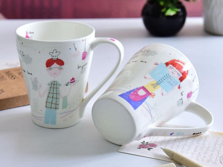 创意陶瓷情侣杯早餐杯
