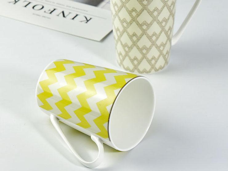 创意陶瓷V杯大容量马克杯