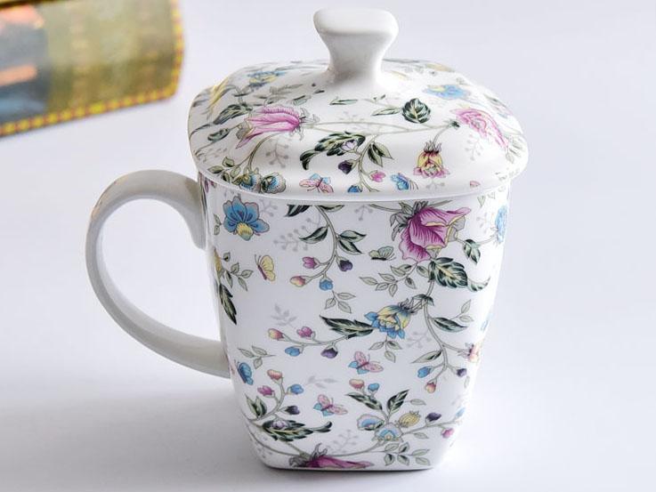 骨瓷盖杯 创意陶瓷杯 大容量早餐杯马克杯
