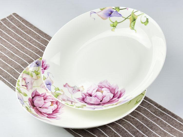 骨瓷餐具 家用8寸饭盘骨瓷水果盘