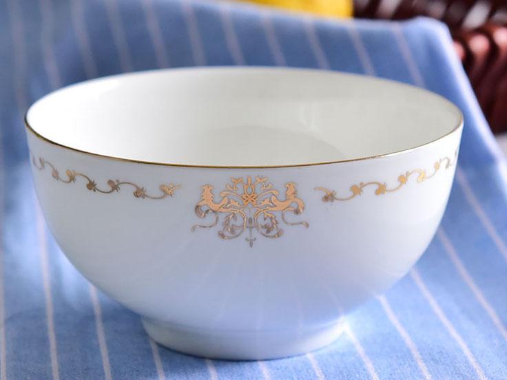 陶瓷双金凤4.5寸高脚碗
