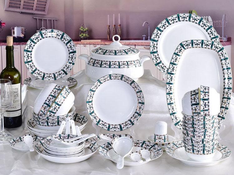 48头骨质瓷餐具套装