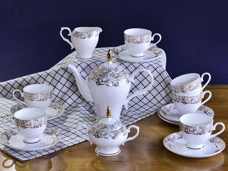唐山骨瓷厂家批发定制15头淑女咖啡具