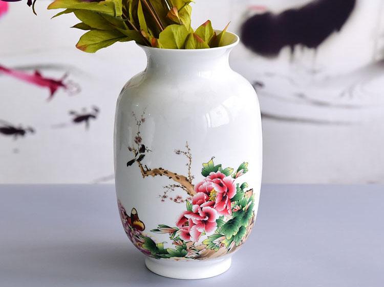 陶瓷花瓶冬瓜瓶礼品定制