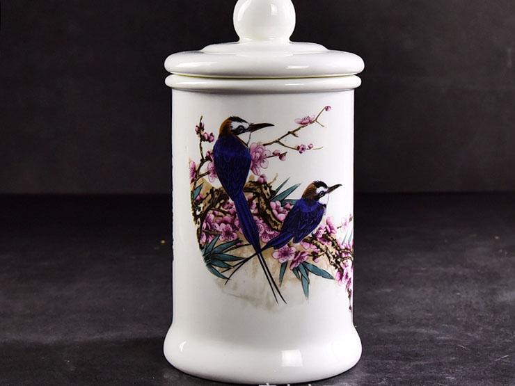 陶瓷茶具茶叶罐 骨瓷大容量茶叶罐定制