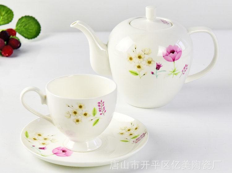 唐山骨瓷厂家批发定制骨瓷咖啡杯碟礼品套装