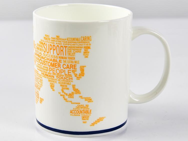 定制陶瓷广告杯 骨瓷礼品马克杯