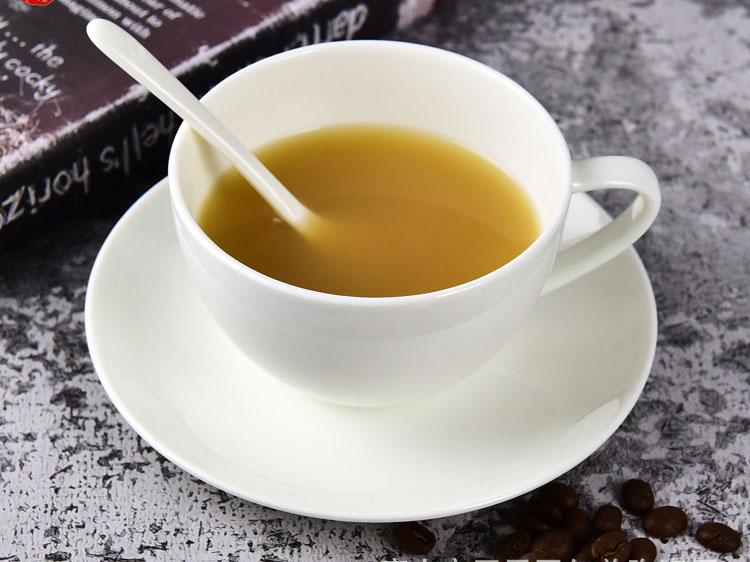 纯白骨瓷月光咖啡杯碟 英式下午茶咖啡杯碟