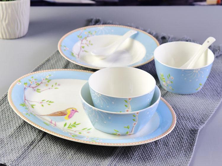 骨瓷双人碗盘碟餐具套装礼品定制
