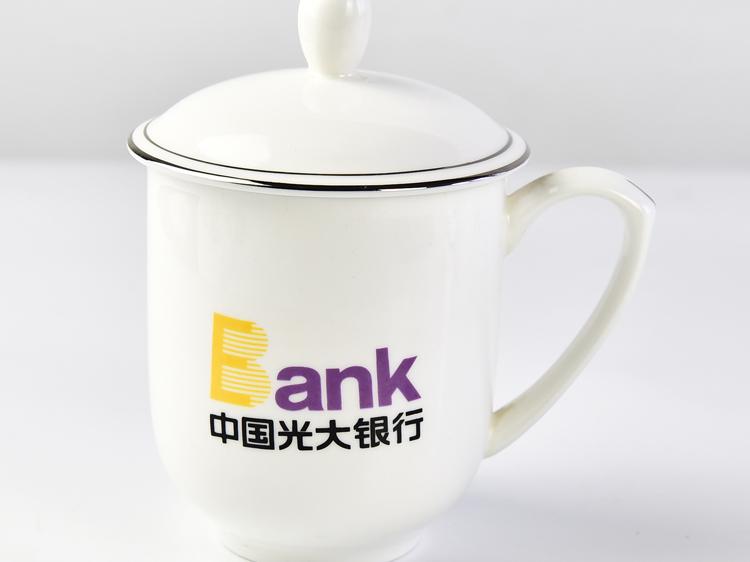 陶瓷茶杯 骨瓷办公广告礼品会议杯定制