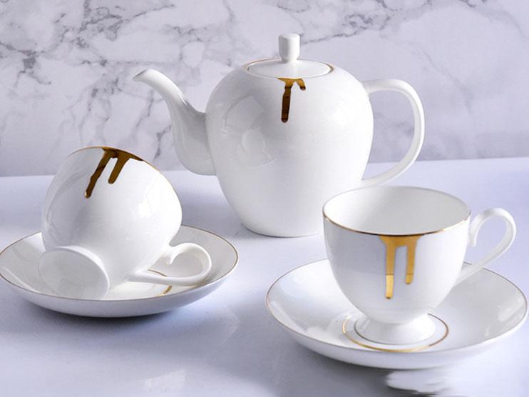 欧式骨瓷咖啡具套装定制