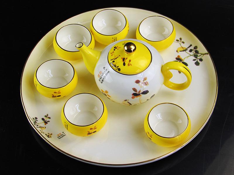 陶瓷茶具套装 带茶盘骨瓷功夫茶具定制