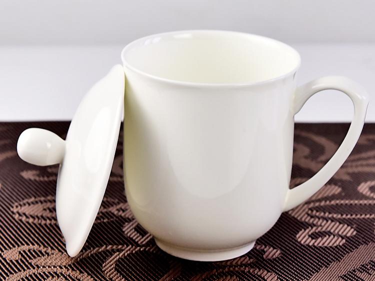 陶瓷会议茶杯 骨瓷礼品广告杯定制LOGO