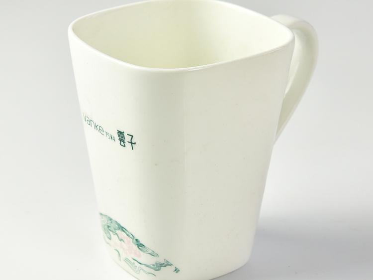 陶瓷广告杯子 骨瓷方杯礼品马克杯定制
