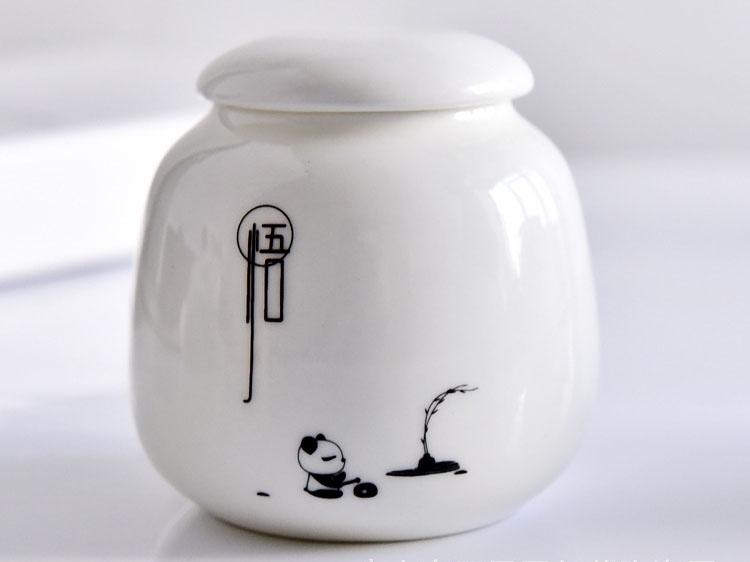 陶瓷茶叶罐 创意礼品骨瓷收纳罐