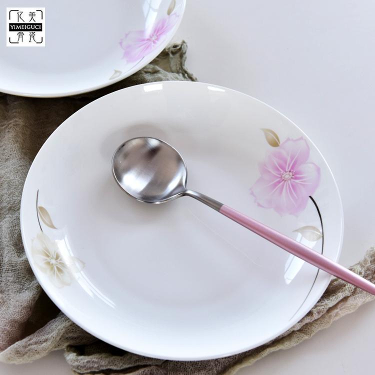 骨瓷餐具 8寸圆形盘子支持定制logo