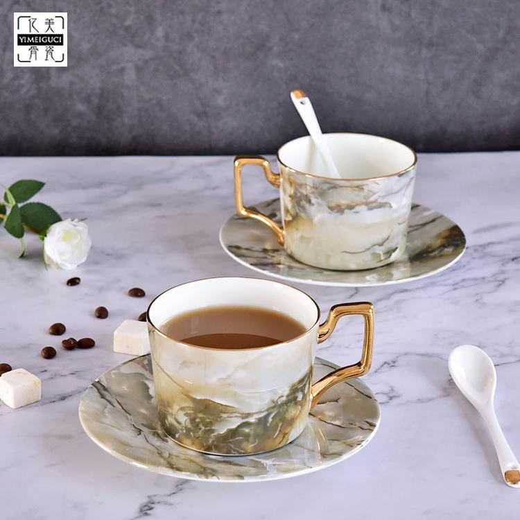 唐山骨瓷厂家批发定制创意陶瓷咖啡杯套装 骨瓷