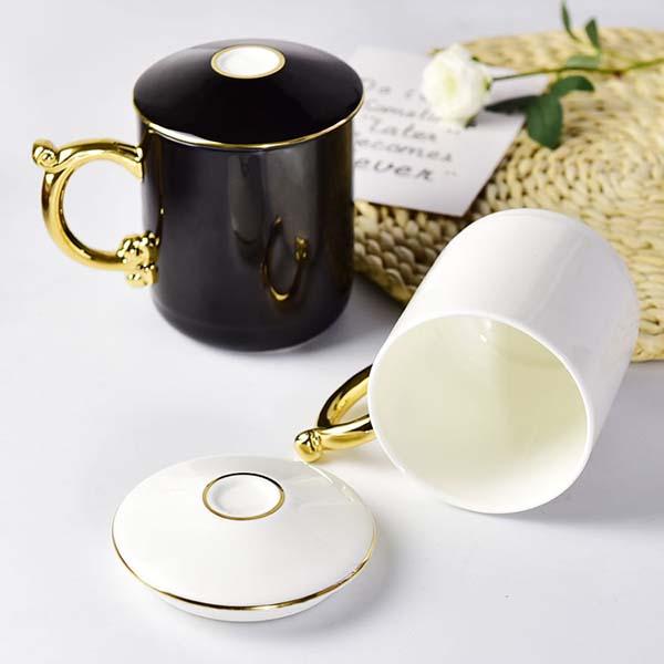 创意骨质瓷会议杯 办公茶杯