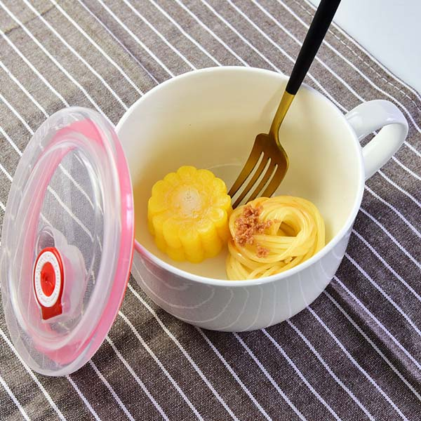 陶瓷餐具 带盖陶瓷保鲜碗