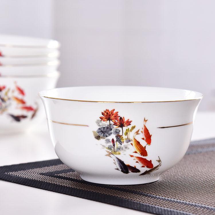陶瓷餐具 年年有余4.5寸陶瓷面碗