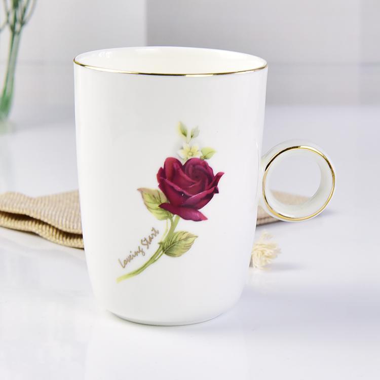 早晨玫瑰钻石陶瓷杯