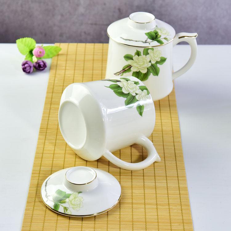 骨瓷大茶漏盖杯