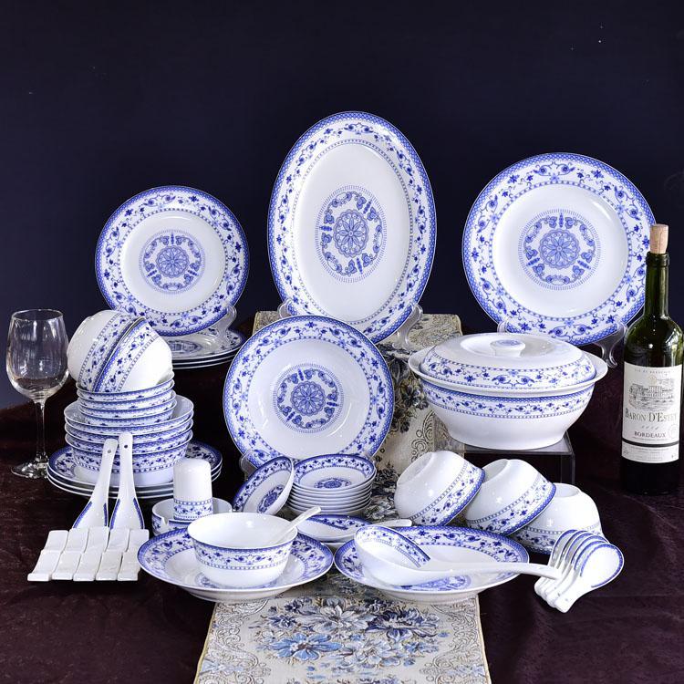 青花陶瓷餐具礼品套装