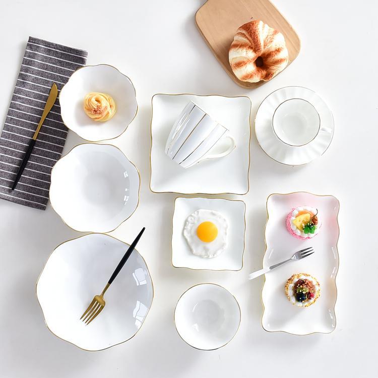 花边陶瓷餐具套装
