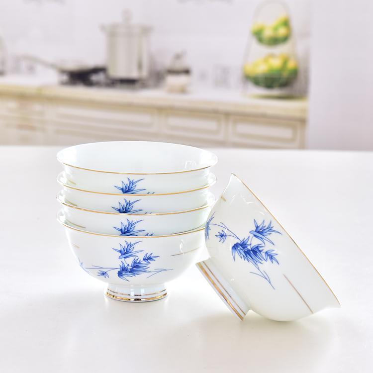 蓝映4.5寸陶瓷高脚碗