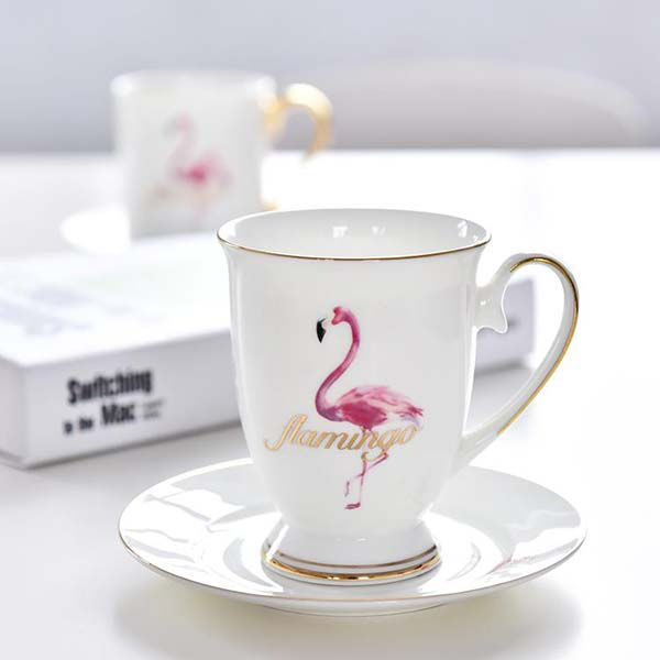 火烈鸟陶瓷皇室杯碟