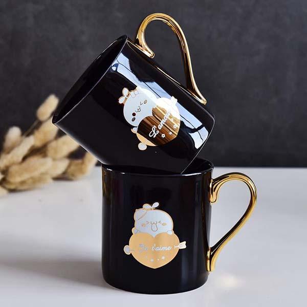 团子黒釉陶瓷杯定制