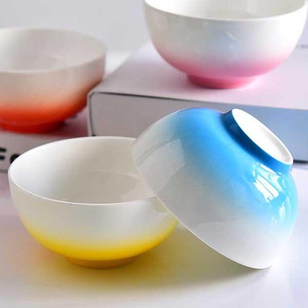 彩釉4.5寸陶瓷金钟碗