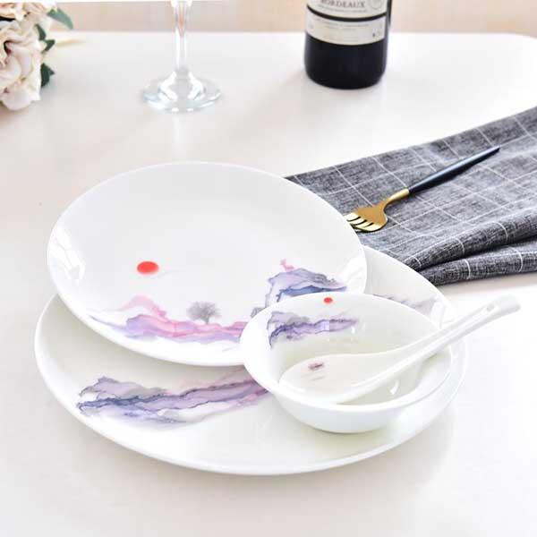 旭日东升单人陶瓷餐具