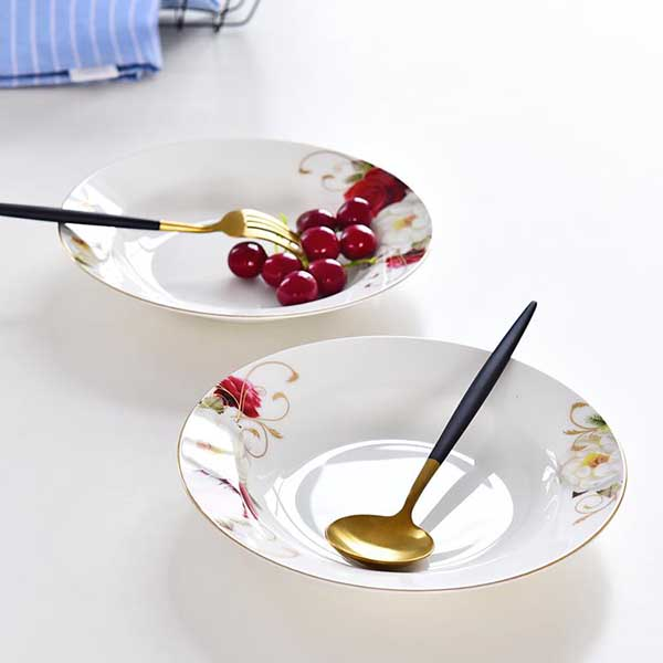 贵妃8寸陶瓷汤盘