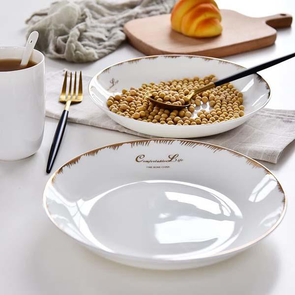 舒适生活8寸陶瓷饭盘