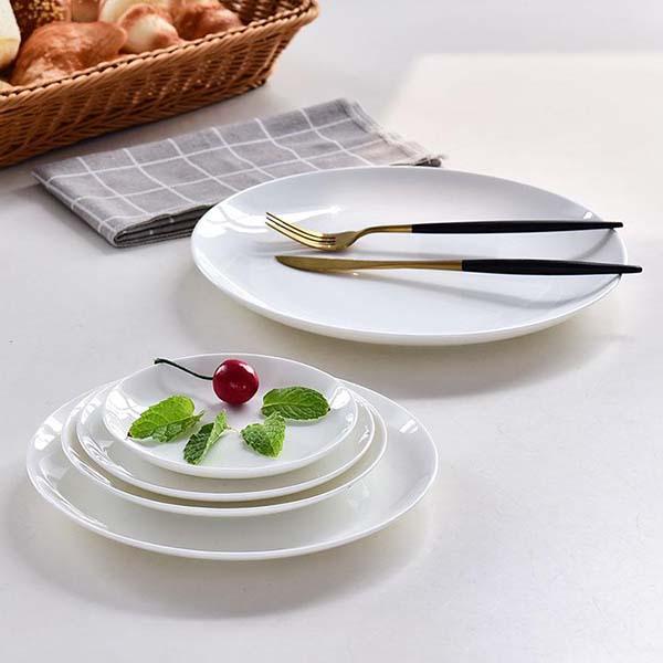 纯白月光陶瓷盘