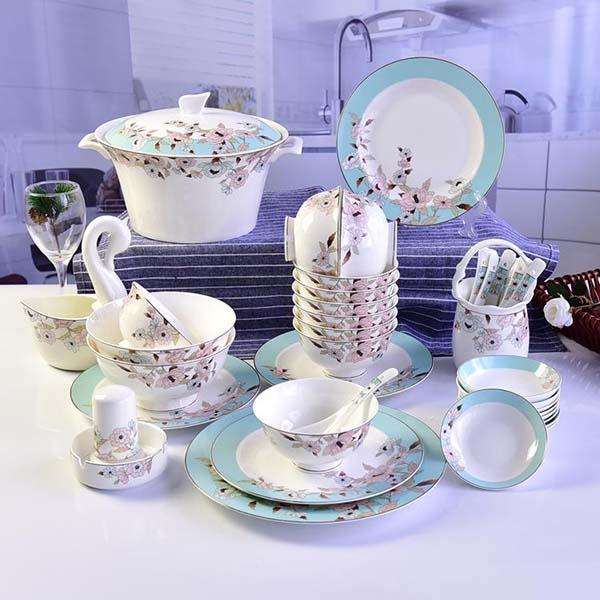 淡雅清芳陶瓷餐具套装