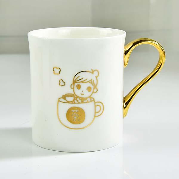 金把陶瓷创意礼品广告杯