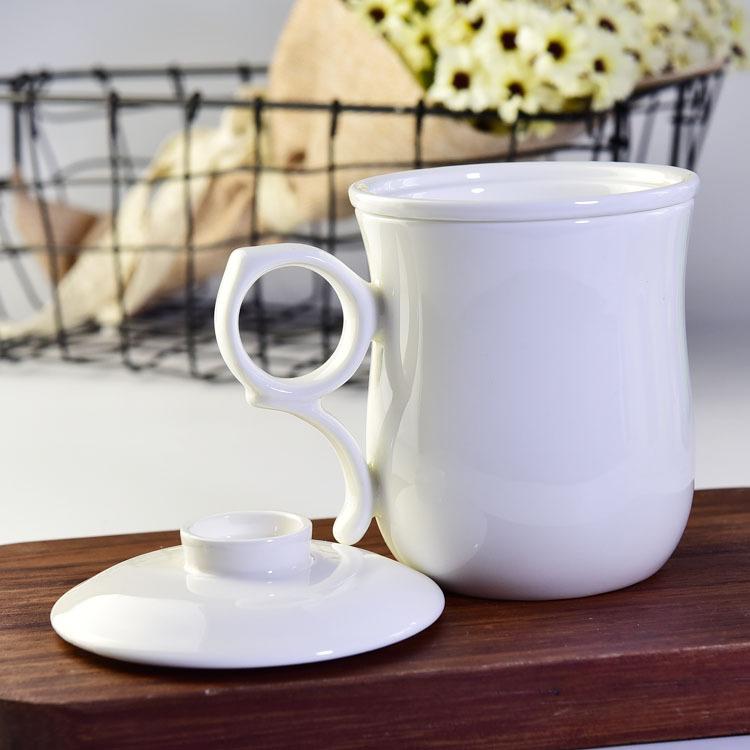 骨瓷茶杯 带过滤茶漏茶具三件套