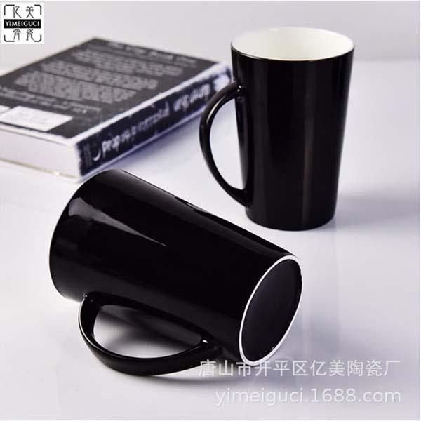 黑釉陶瓷高V杯