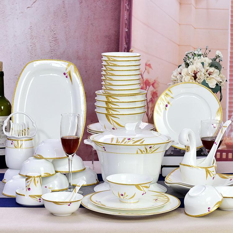 52头陶瓷餐具套装