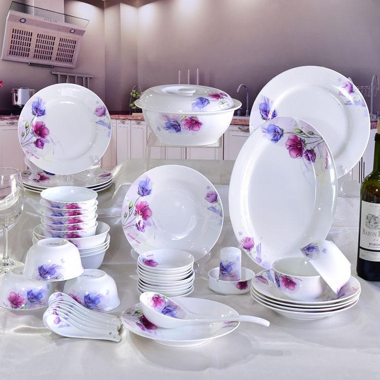 50头彩韵陶瓷餐具套装