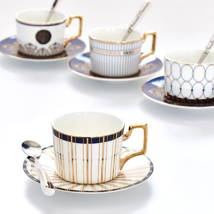 蓝色梦境骨瓷咖啡杯碟