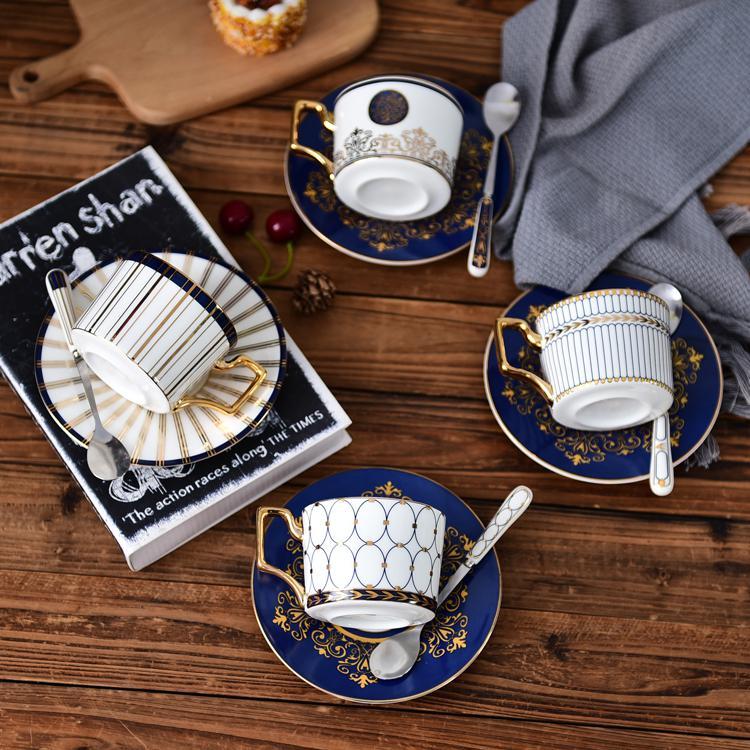 盛世楼兰骨瓷咖啡杯碟