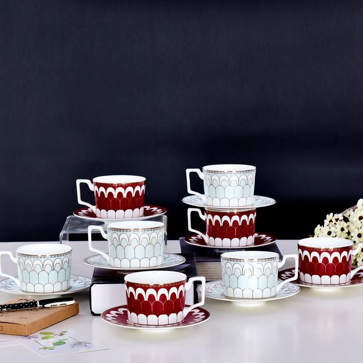 金粉年华骨质瓷咖啡杯碟