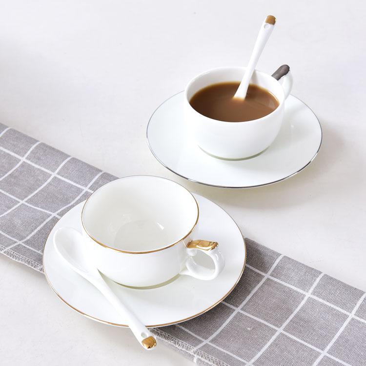 简欧骨质瓷咖啡杯碟