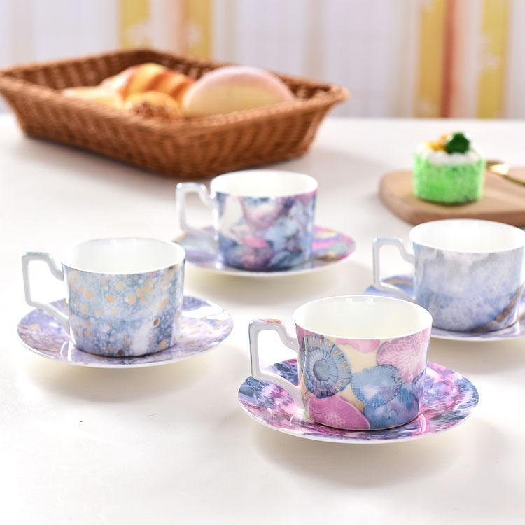 海洋系列骨质瓷咖啡杯碟